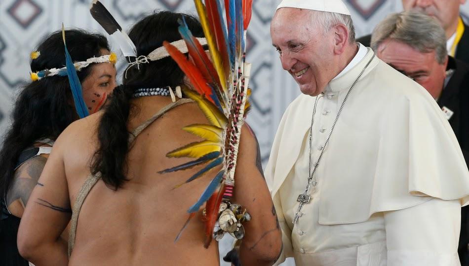 """L'Exhortation post-synodale sur l'Amazonie ne comporte pas d'évolution vers les """"prêtres mariés"""" 20180119T1315-13910-CNS-POPE-AMAZON-1"""