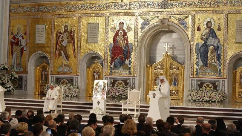 Pape François en Roumanie: méditation sur le Notre-Père en la cathédrale orthodoxe de Bucarest