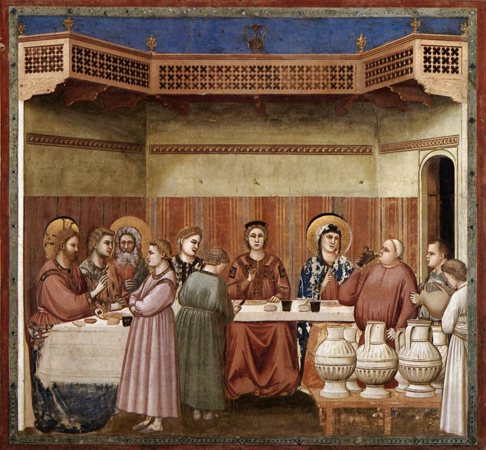 Les noces de Cana par Giotto di Bondone