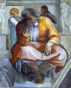 Le prophète Jérémie par Michelangelo