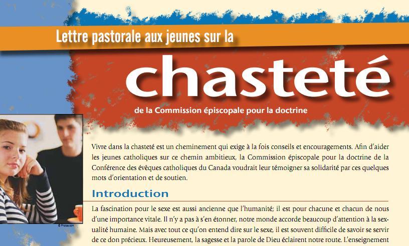 Lettre Chasteté