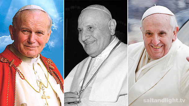 Pope-Francis-Pope-John-Paul-II-Pope-John-XXIII