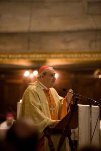 L'émotion du cardinal était palpable lors de l'homélie qu'il a livré le 18 octobre à Rome. Photo: Steven Scardina