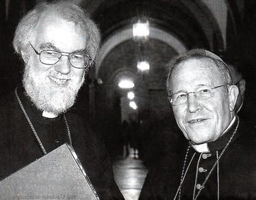 L'archevêque de Canterbury Rowan Williams et le Président du Conseil pontifical pour l'unité des chrétiens, le cardinal Walter Kasper