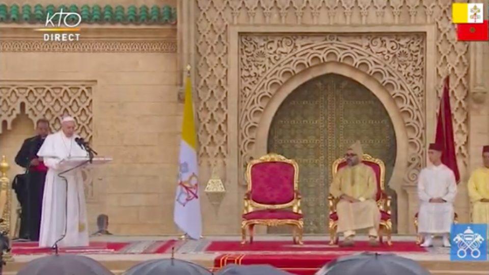 Discours du pape François aux autorités civiles et politiques du Maroc