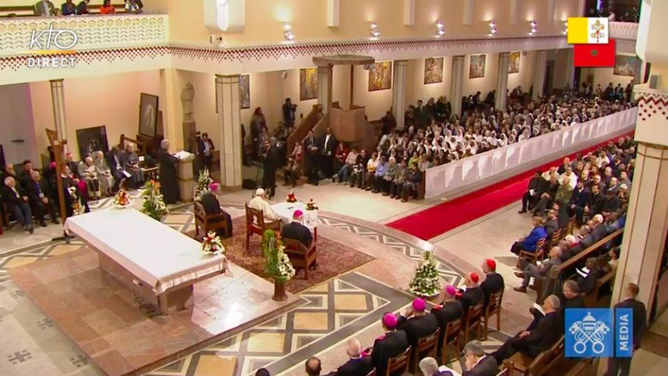Discours du Pape aux personnes consacrées de Témara au Maroc