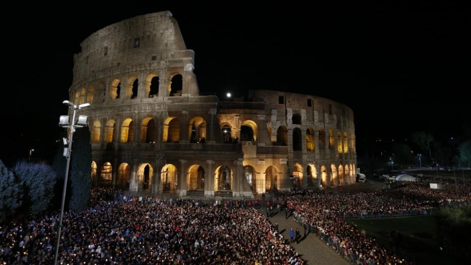 Prière du pape François en conclusion du Chemin de Croix à Rome