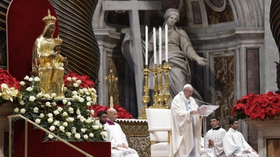 Homélie du pape François pour la Solennité de Marie très Sainte Mère de Dieu
