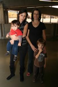 Maryline et ses enfants