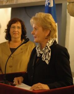 La ministre Monique Gagnon Tremblay à Rome (Photo : DUMAS)
