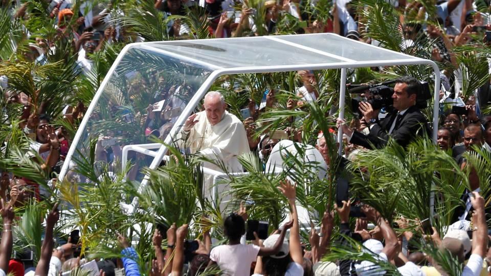 Pape à Maurice: homélie au monument Marie Reine de la Paix