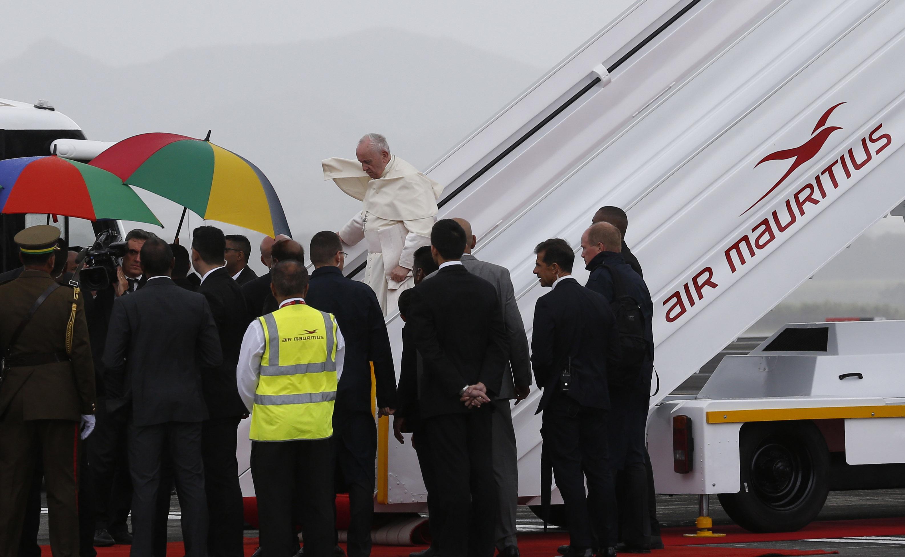 Pape à Maurice: discours aux autorités