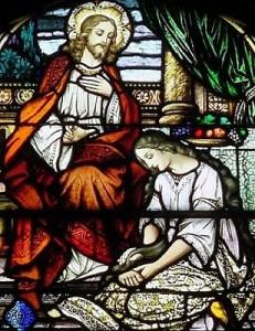La femme qui oint les pieds de Jésus
